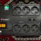 ИБП для котла с аккумулятором — отзыв о модели CyberPower BRICs 650 E LSD