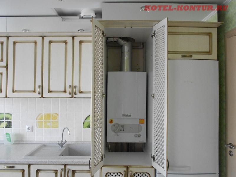 размещение котла на кухне